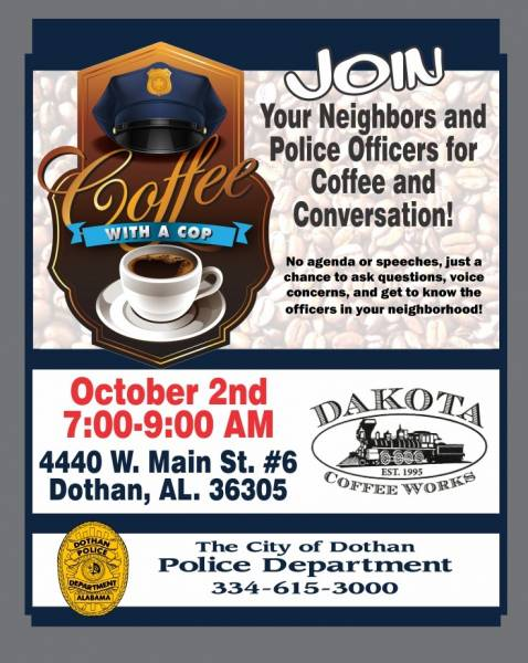 Coffee with a Cop Set for October 2nd