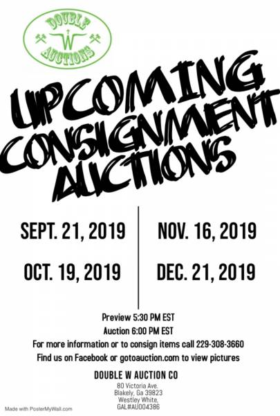 Upcoming Consignment Auctions