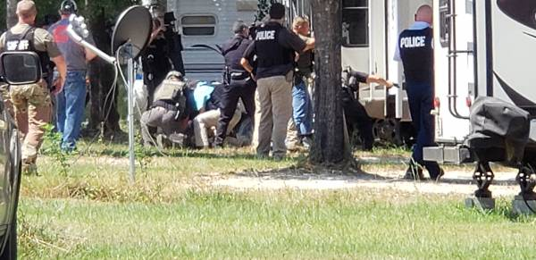 1:06 PM  Search Warrant - Suspect Barricaded Inside - Turns Into Structure Fire