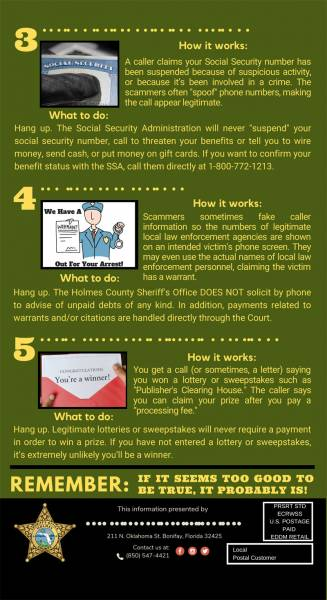 A Message fro Holmes County Sheriff about Phone Scams