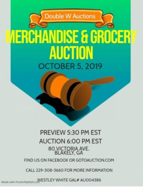 Merchandise & Grocery Auction