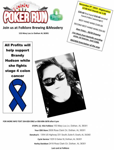Poker Run for Brandy Hudson