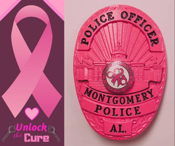 Montgomery Police Honor Breast Cancer Victims