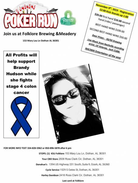 Poker Run for Brandy Hudson