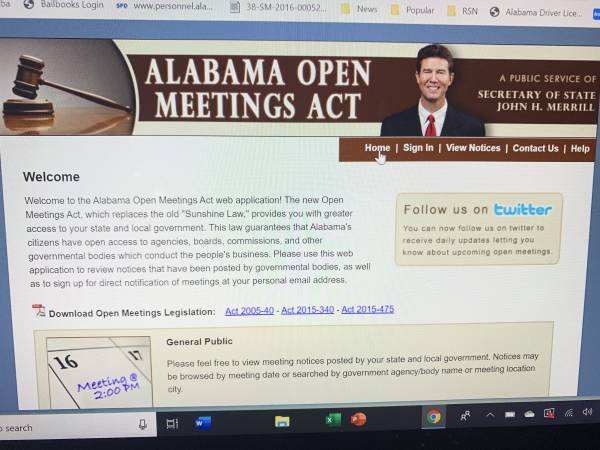 Ashford City Council - City Clerk Darlene Cassidy - Did You Violate Alabama Open Meetings Law