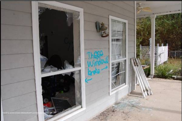 Vandals Target Abandoned Pool and Pool House