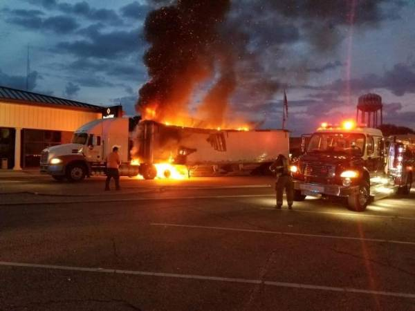 Yesterday's Truck Fire in Geneva