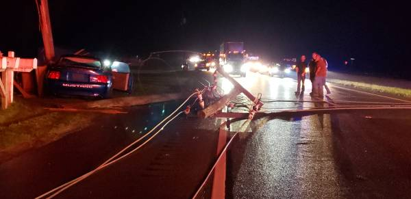 UPDATED at 11:37 PM.  Motor Vehicle Accident Highway 84 East and County Road 75