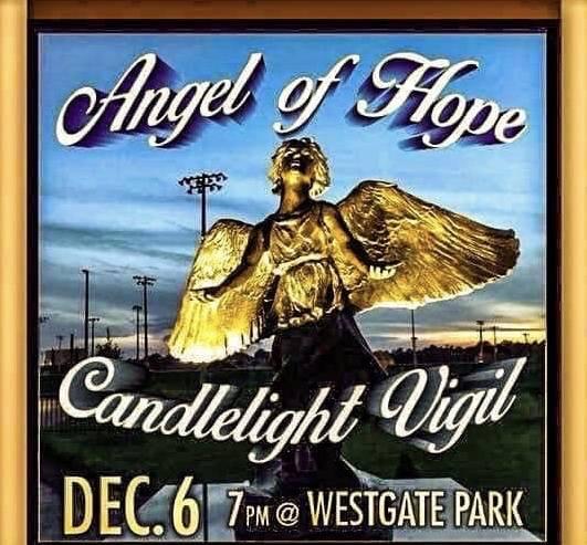 The Angel Of Hope Candlelight Vigil