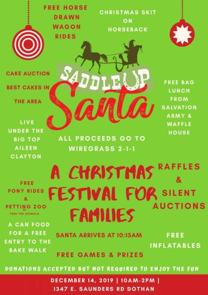 Annual Saddle Up Santa Event is Saturday, December 14th