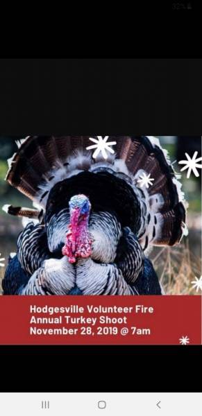 Hodgesville Volunteer Fire Department Annual Turkey Shoot