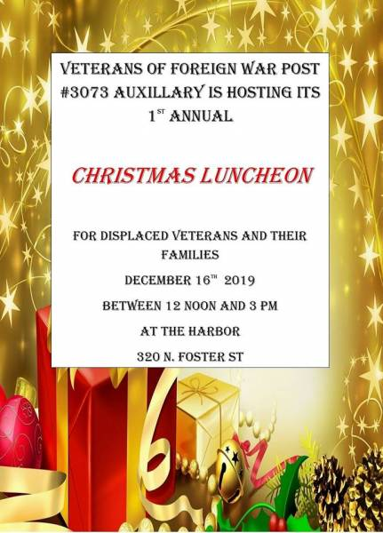 Christmas Dinner For Our Displaced Veterans