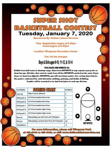 SUPERSHOT BASKETBALL COMPETITION