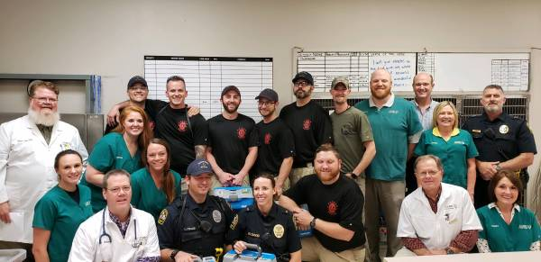 2:45 PM... Care Animal Center Donates Medical Kits to the Dothan Police K-9 Officers