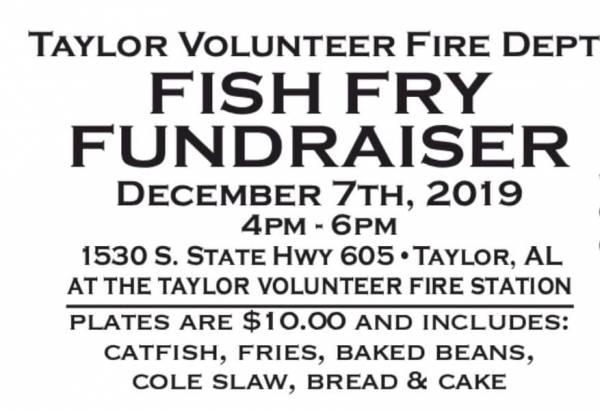 Taylor Volunteer fire Dept Fish Fry Fundraiser