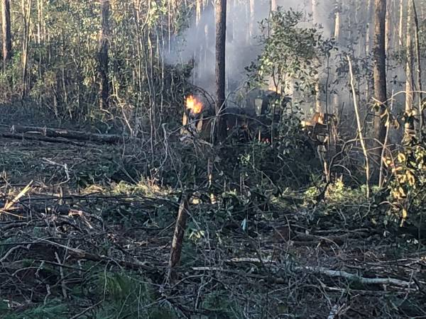 4:44 PM   Skidder Fire On County Road 22