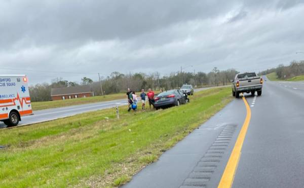 1:00 PM. Motor Vehicle Accident on US 84 at the Inland