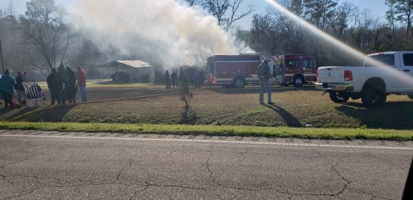 UPDATED at 5:15 PM... Structure Fire at 11406 Cottonwood Road