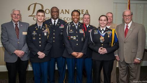 Chamber Committee Presents JROTC Cadet Leadership Awards