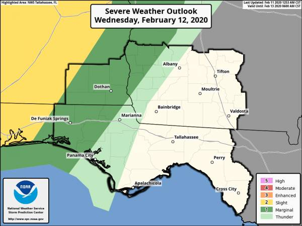 Potential for Severe Weather Wednesday Night