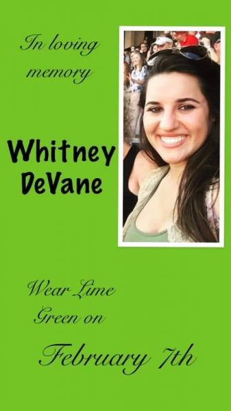 This Past Friday One Year Ago Whitney Devane Passed From Earth And Entered Heaven