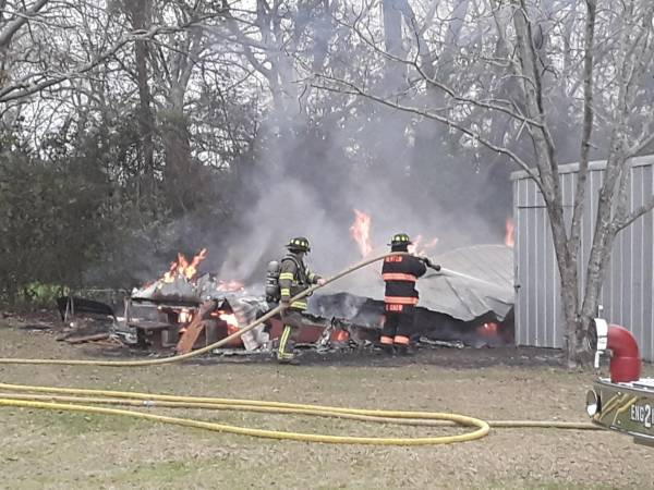 Structure Fire In Newton On Monday - Tate Drive