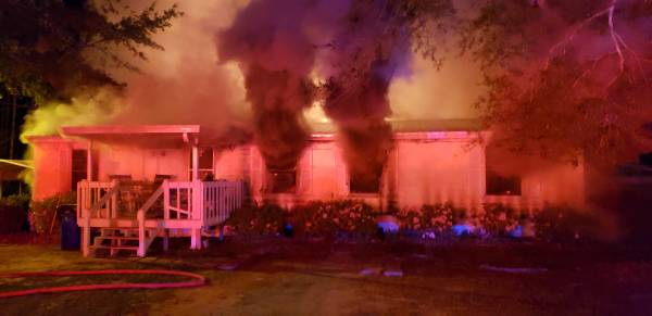 12:32 AM... Structure Fire on Nathan Woods Road