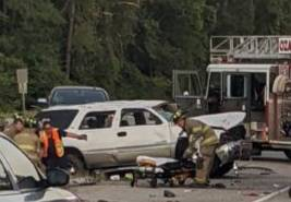 Motor Vehicle Accident south of Ozark with Possible Ejection