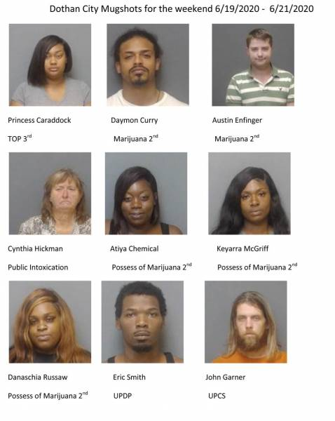 Weekend Mugshots for Dothan and Houston County
