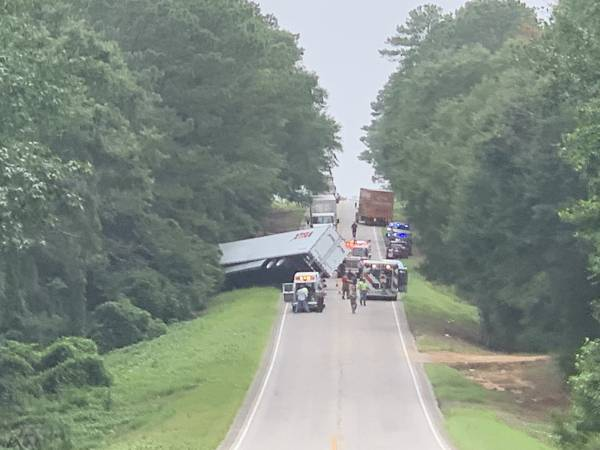 UPDATED @ 8:05 PM.  2:47 PM.  Semi and SUV Crash Highway 134 east Behind Dothan Airport