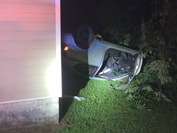 8:16 PM   FOLKS - The Driver Worked Really Hard To Do This - Overturned On Meridan Street In Dothan