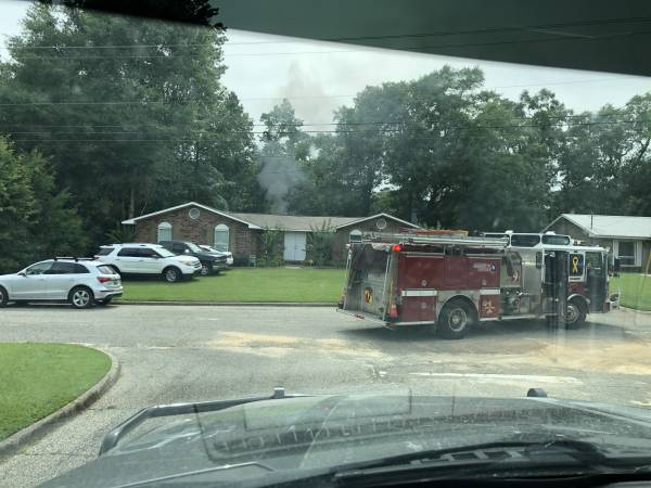 3:49 PM.  Structure Fire. Fairfield Drive