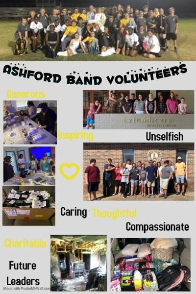 Ashford Band Volunteers in the Area