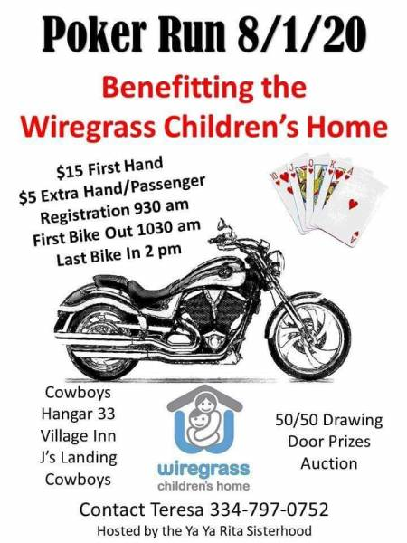 Poker Run Benefitting the Wiregrass Children's Home