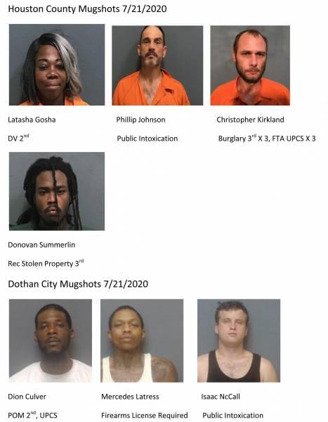 Houston County & Dothan City Mugshots 7/21/2020
