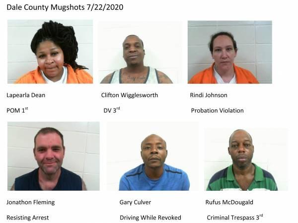 Dale County Mugshots 7/22/2020