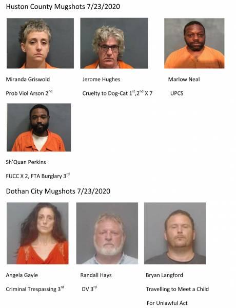 Huston County Mugshots 7/23/2020