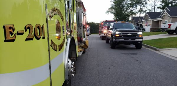 6:44 PM.. Structure Fire on Orchard Park Drive