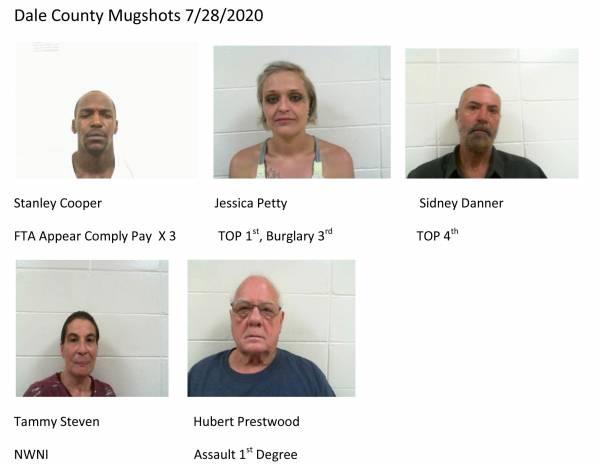 Dale County Mugshots 7/28/2020