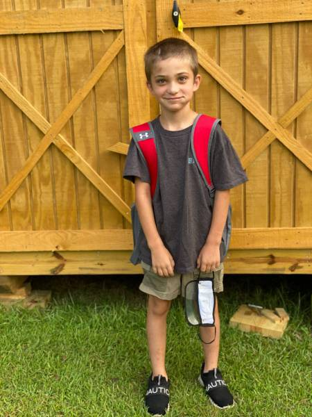 School Returns - Brantley's First Day In Second Grade