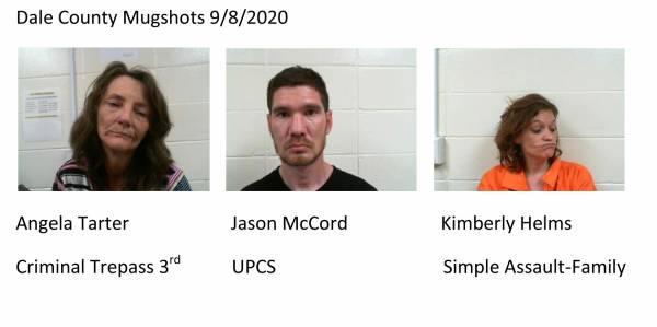 Dale County Mugshots 9/8/2020