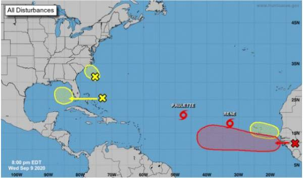 Two tropical storms and now four waves to watch -- and one's headed for the Gulf