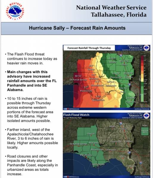 A FLASH FLOOD WATCH has been issued for Houston County and the Wiregrass Area ...