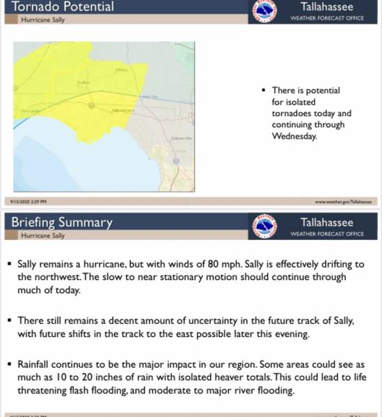 Tuesday Afternoon Brief Hurricane Sally