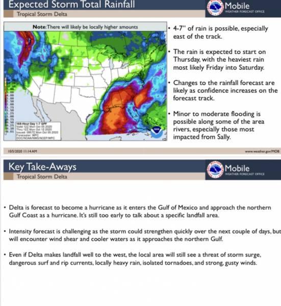 Update on Hurricane Delta