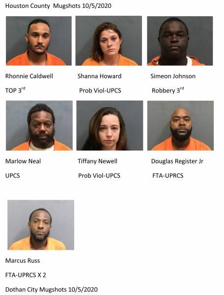 Houston County / Dothan City Mugshots 10/5/2020