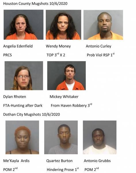 Houston County / Dothan City Mugshots 10/7/2020