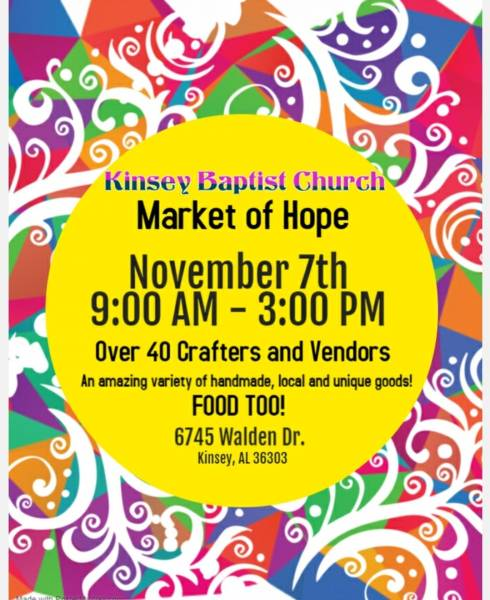 Kinsey Baptist Church Market of Hope