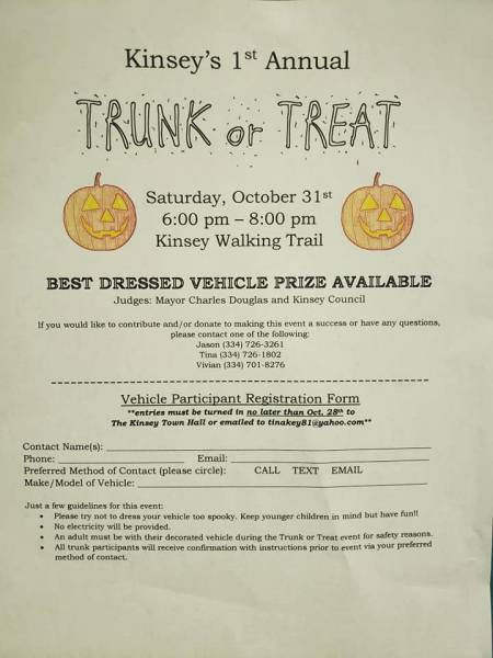 Kinsey's 1st Annual Trunk or Treat