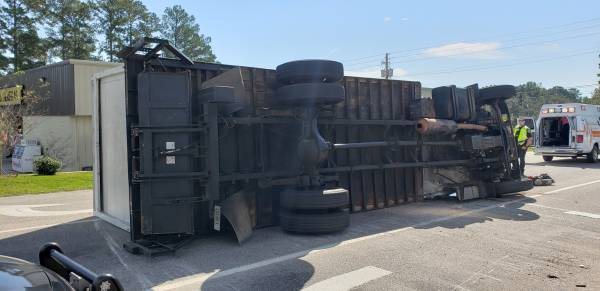 10:30 AM... Truck Overturned at Hartford and Honeysuckle